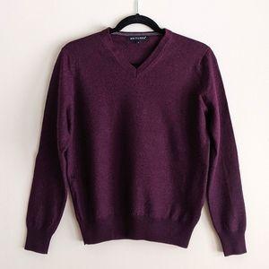 Britches   men's wine merino wool blend sweater